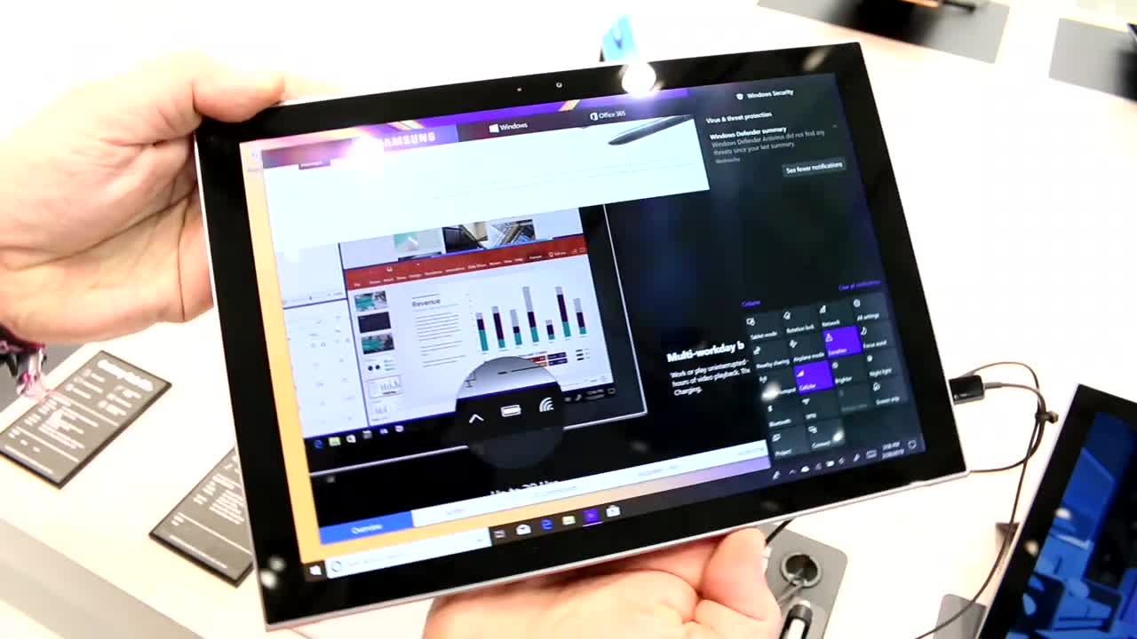 Windows 10, Tablet, Samsung, Galaxy, Arm, Hands-On, Mwc, Hands on, Tablets, Tablet-PC, MWC 2019, Windows 10 S, Samsung Electronics, Mobile World Congress 2019, Qualcomm Snapdragon 850, Microsoft Windows 10, Samsung Galaxy Book 2, Samsung Galaxy Book2