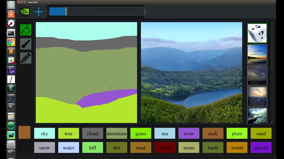 Software, Nvidia, Künstliche Intelligenz, Ki, Grafikkarte, Rendering, Bildanalyse, skizze, Landschaft
