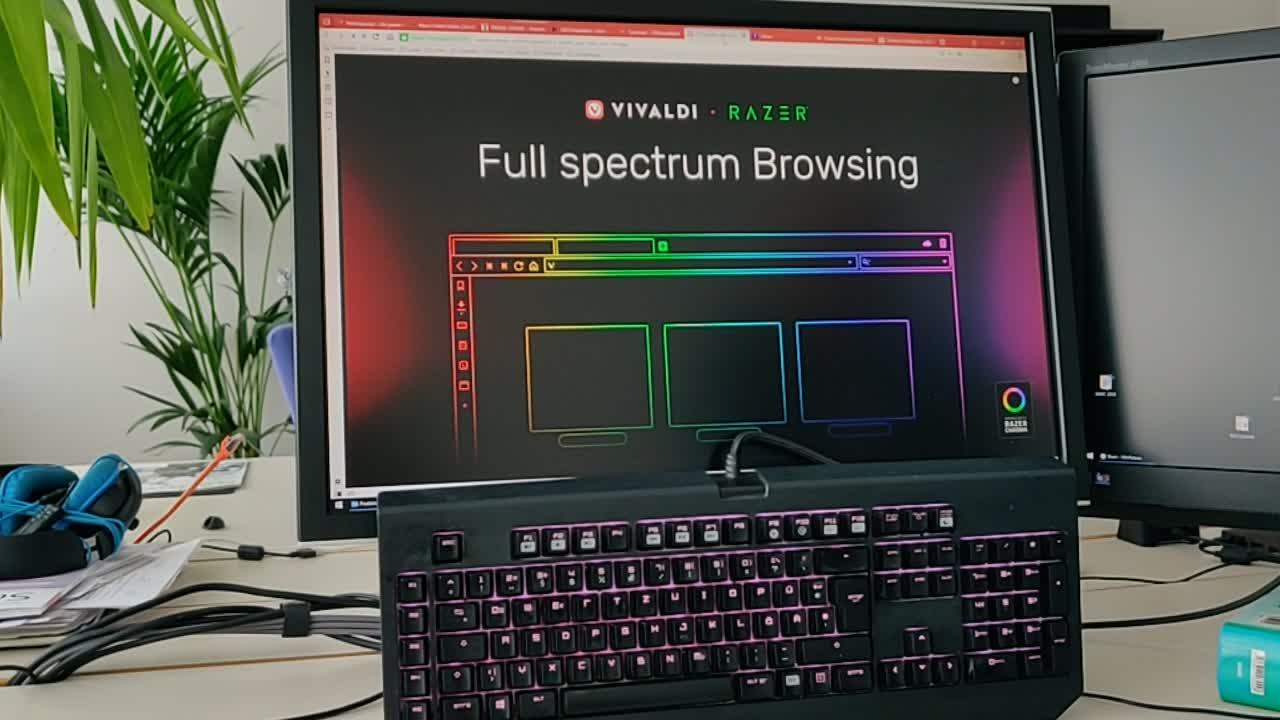Browser, Razer, Beleuchtung, Vivaldi, Chroma