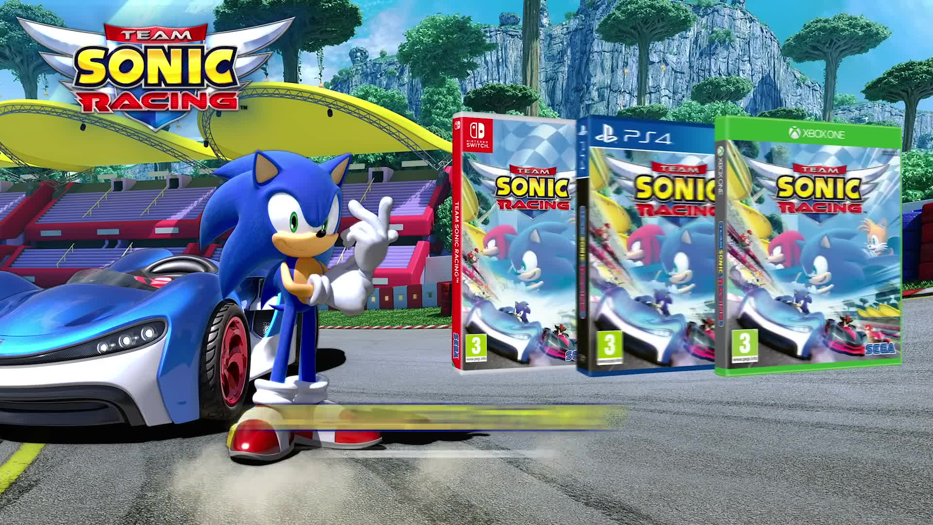 Trailer, Rennspiel, SEGA, Sonic, Team Sonic Racing