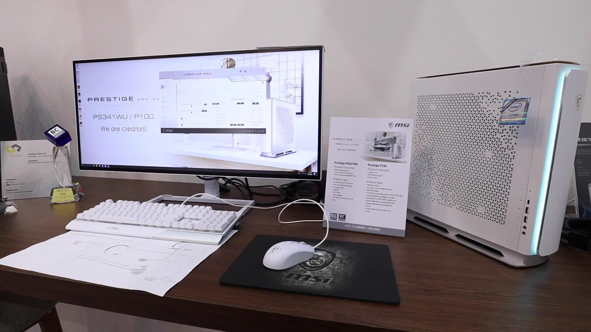 Computex, NewGadgets, Johannes Knapp, Msi, Computex 2019, Desktop PC, MSI Prestige, MSI Prestige P100, Prestige P100