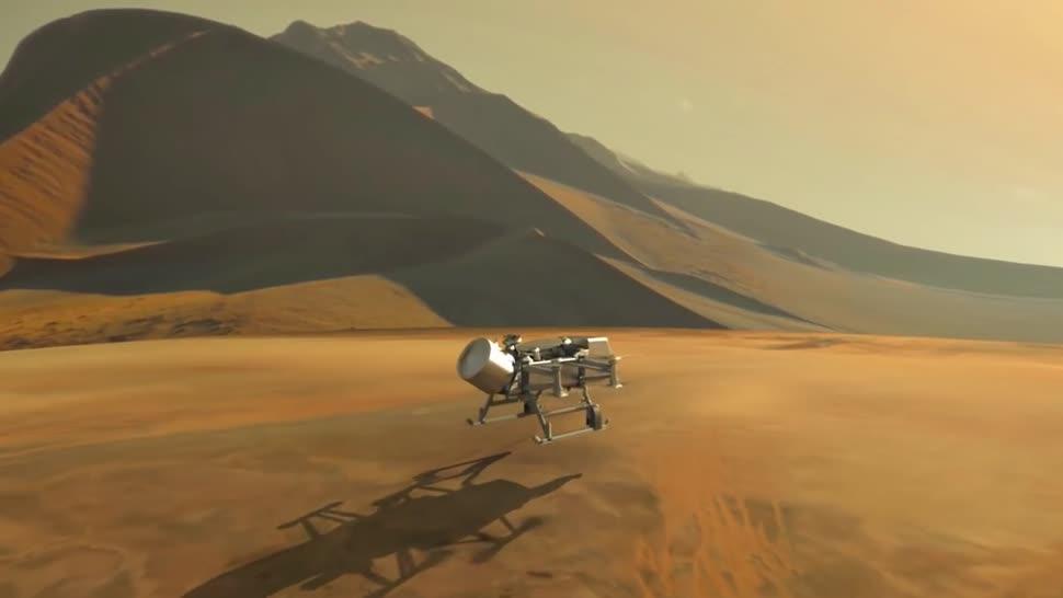 Weltraum, Nasa, Drohne, Saturn, Dragonfly, Atmosphäre
