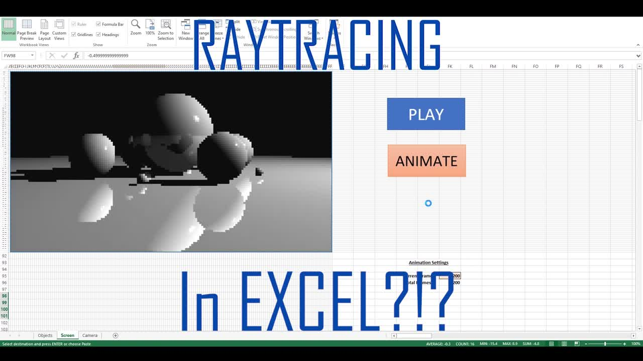 Microsoft, Office, Microsoft Office, Excel, Programmieren, Raytracing