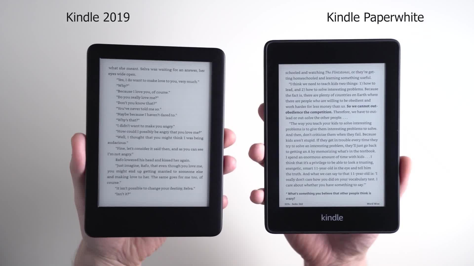 Amazon, Test, Kindle, E-Book, Andrzej Tokarski, Tabletblog, E-Book-Reader, Amazon Kindle, Vergleich, E-Book-Lesegerät, E-Book-Reader Kindle, Kindle Paperwhite, Paperwhite, Amazon Kindle 2019
