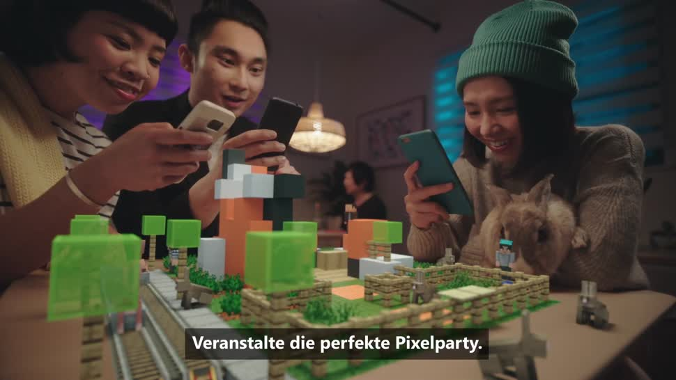 Microsoft, Smartphone, Android, Trailer, App, iOS, Augmented Reality, Minecraft, mojang, AR, Minecraft Earth