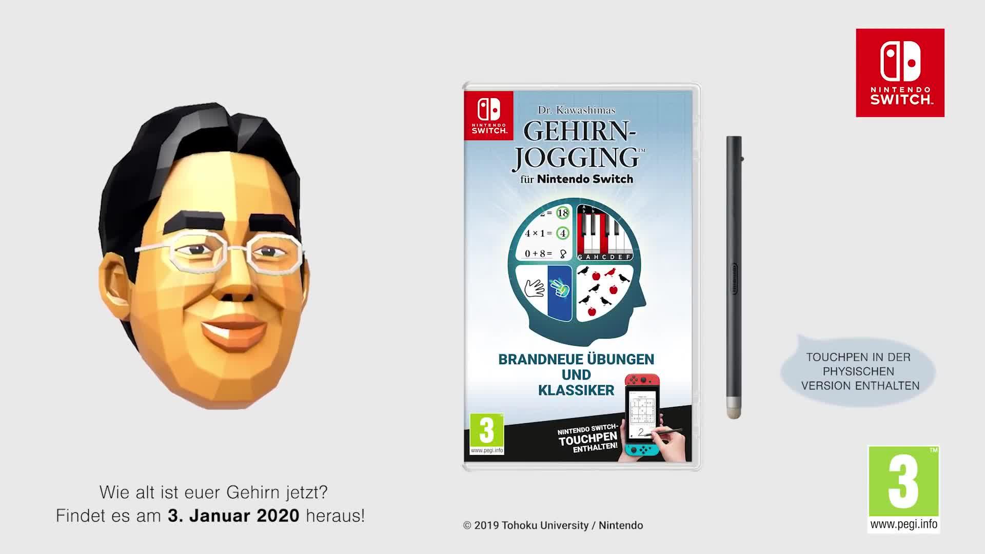 Trailer, Nintendo, Nintendo Switch, Switch, Dr. Kawashima, Dr. Kawashimas Gehirn-Jogging für Nintendo Switch, Dr. Kawashimas Gehirn-Jogging