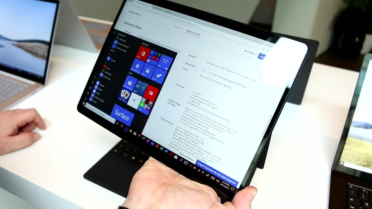 Microsoft, Windows 10, Windows, Tablet, Surface, Microsoft Surface, Test, Hands-On, Hands on, Surface Pro, Review, Surface Pro X, Microsoft Surface Pro X