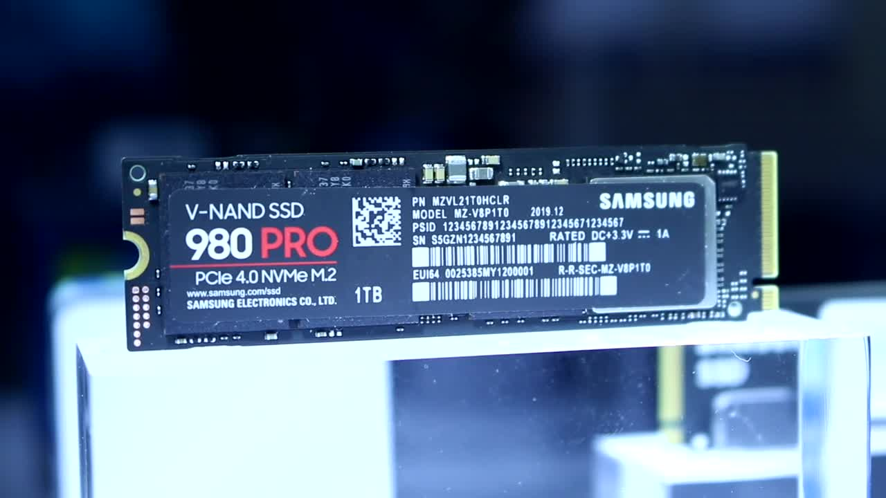 Samsung, Speicher, Hands-On, Ssd, Ces, Flash, Solid State Drive, CES 2020, NVMe, PCIe 4.0, V-Nand, PCI Express 4.0, Samsung 980 Pro