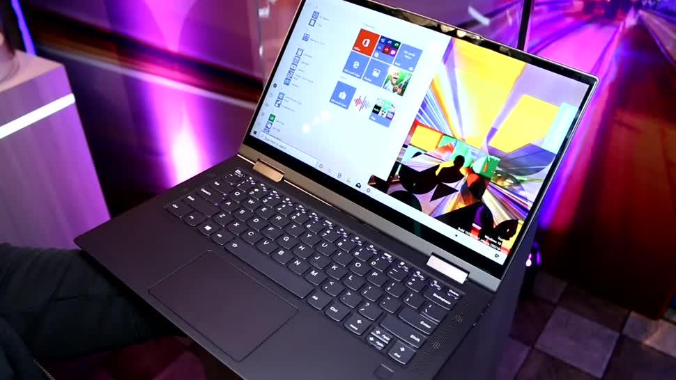 Notebook, Laptop, Lenovo, Hands-On, Ces, CES 2020, Yoga, Lenovo Yoga 5G, Yoga 5G