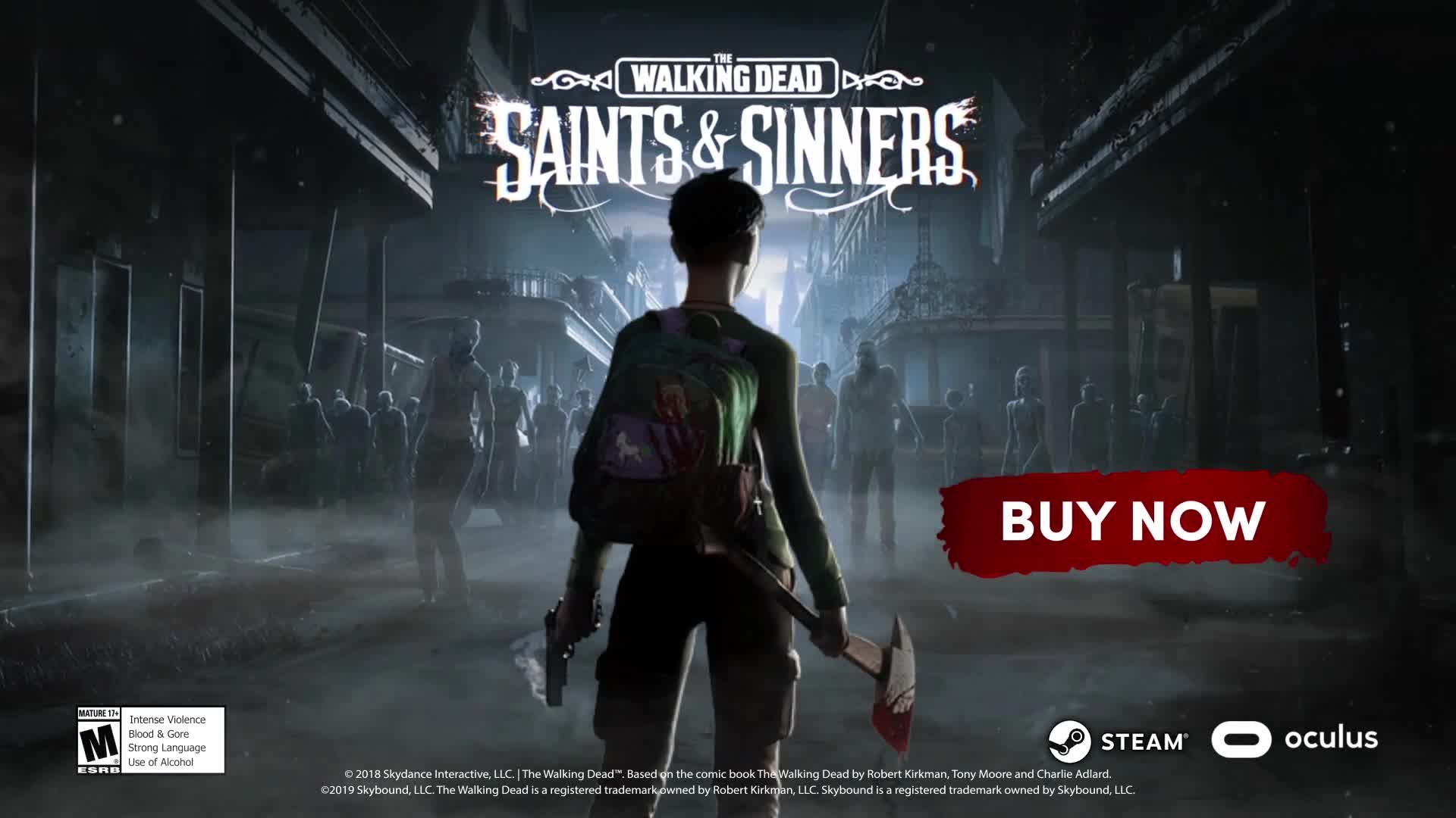 Trailer, Virtual Reality, VR, Zombies, The Walking Dead, TWD, Saints & Sinners, Skydance Interactive