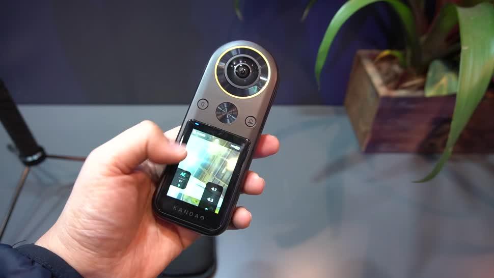 Hands-On, Ces, Hands on, NewGadgets, Johannes Knapp, CES 2020, 360 Grad, 360 Grad Kamera, 360-Grad-Kamera, Kandao QooCam 8K, Kandao QooCam, QooCam 8K, Kandao, QooCam