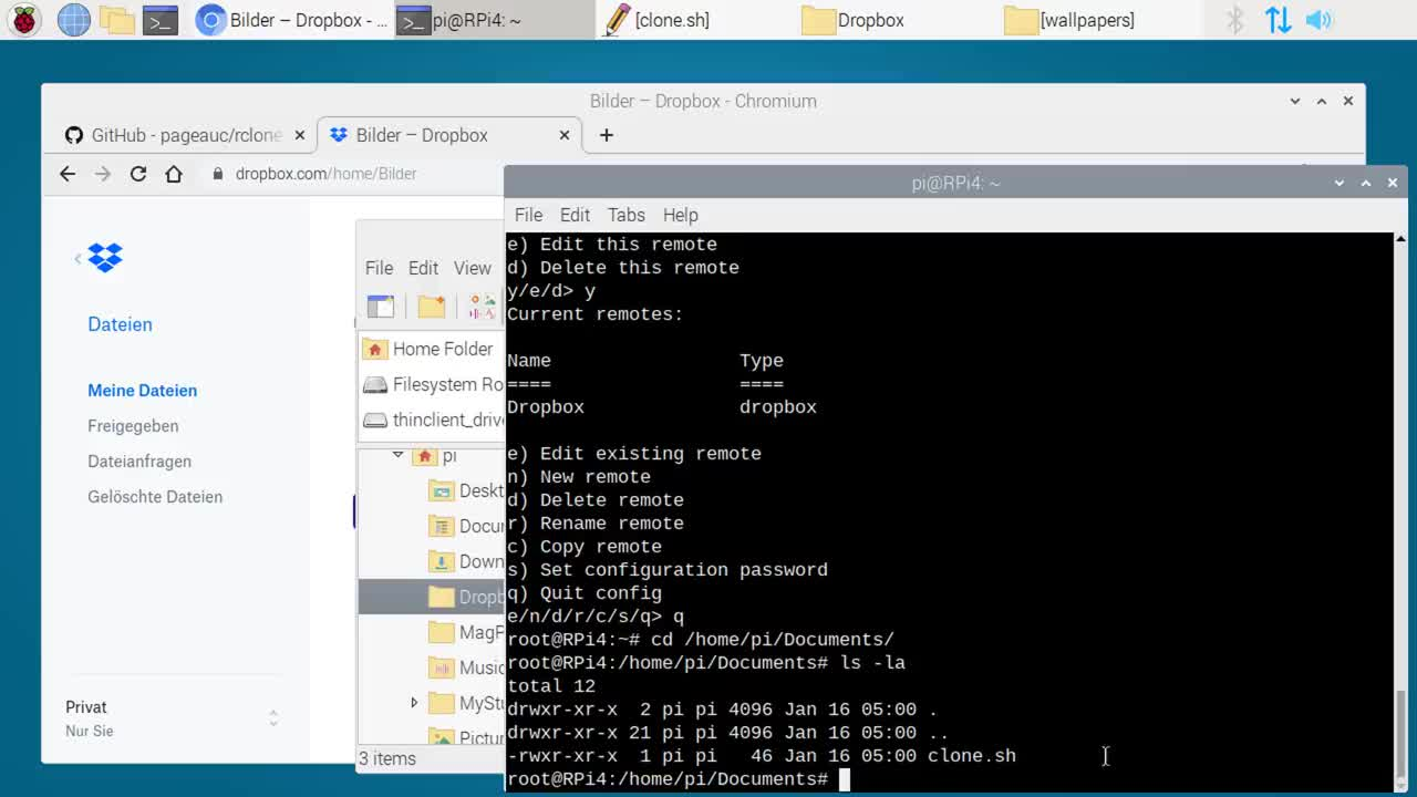 Cloud, Synchronisation, mini-pc, SemperVideo, raspberry pi, minirechner, mini-rechner, Anleitung, Tutorial, rclone