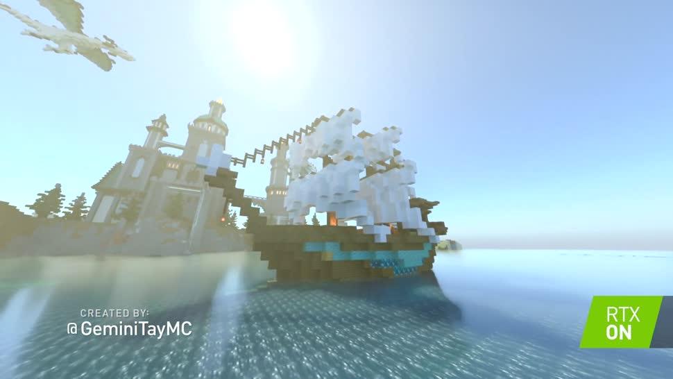 Microsoft, Trailer, Nvidia, Minecraft, Geforce, mojang, Nvidia Geforce, RTX, Raytracing