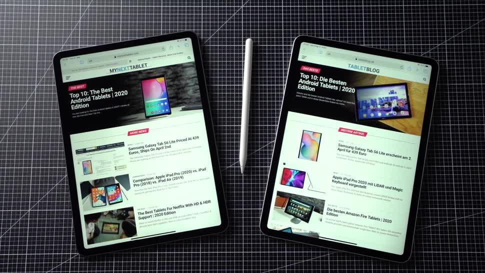 Apple, Tablet, Ipad, Apple Ipad, Andrzej Tokarski, Tabletblog, ipad pro, Vergleich, Apple iPad Pro, iPad Pro 2018, Apple iPad Pro 2020, iPad Pro 2020, Apple iPad Pro 2018