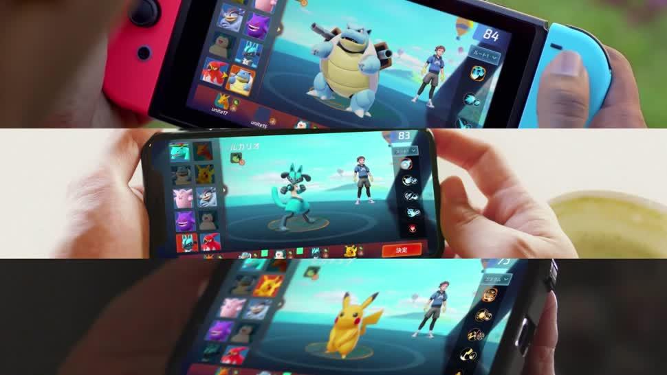 Smartphone, Android, Trailer, iOS, Nintendo, Switch, Game, Pokemon, Mobile Gaming, Mobile Game, The Pokemon Company, Pokémon Unite