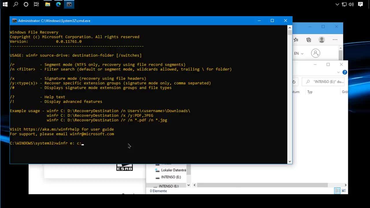 Windows 10, SemperVideo, Dateien, Tipps und Tricks, Rettung, Gelöscht, Windows File Recovery