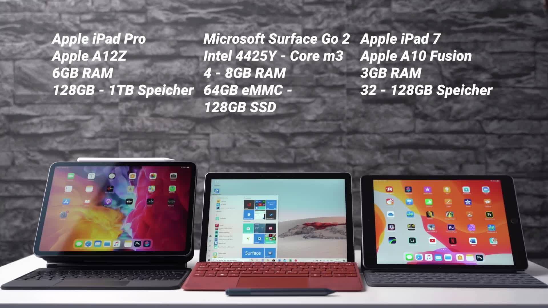 Microsoft, Apple, Windows 10, Tablet, Ipad, Surface, Microsoft Surface, Apple Ipad, Andrzej Tokarski, Tabletblog, ipad pro, Vergleich, iPadOS, Surface Go, Apple iPad Pro, Microsoft Surface Go, Microsoft Surface Go 2, Surface Go 2, iPad OS, iPad 7, Apple iPad 7