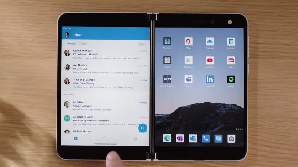 Microsoft, Smartphone, Android, Surface, Microsoft Surface, Surface Duo, Dualscreen, Dual Screen, Dual-Screen