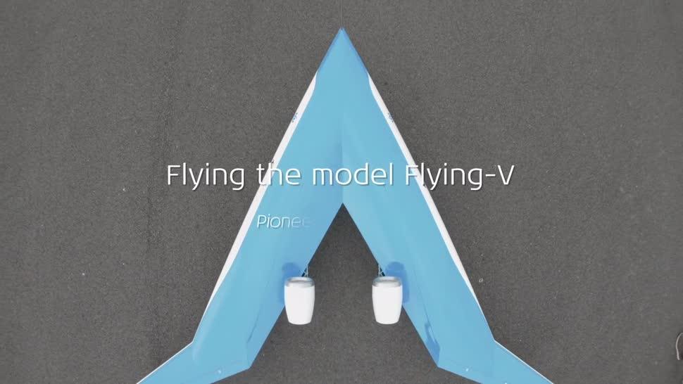Forschung, Flugzeug, KLM, Flying-V, TU Delft