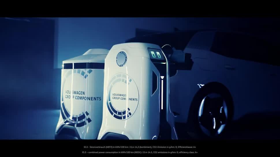 Roboter, Elektromobilität, Elektroauto, Vw, volkswagen, Energieversorgung, Laderoboter