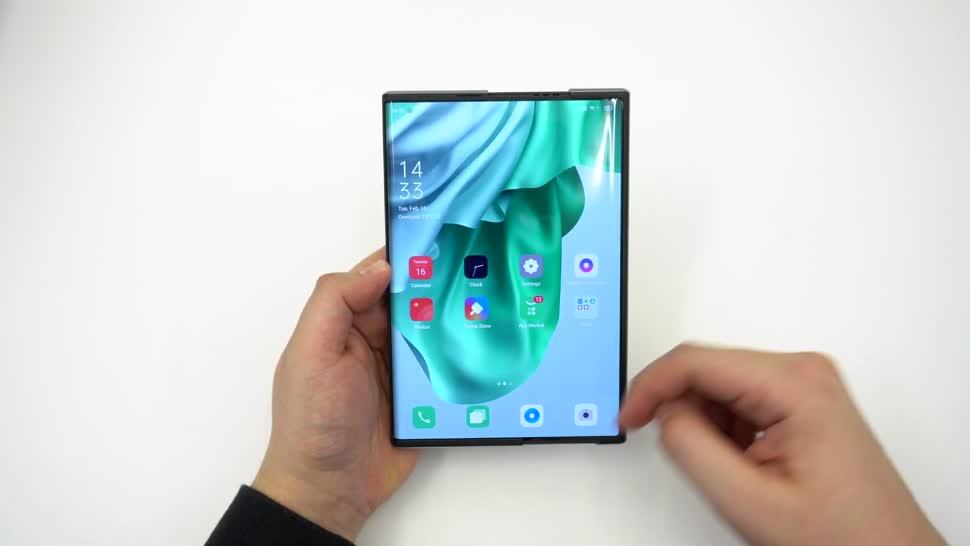 Smartphone, Android, Hands-On, Konzept, Oppo, NewGadgets, Johannes Knapp, Android 11, Designkonzept, rollbar, Oppo X 2021, Design-Konzept, Oppo X