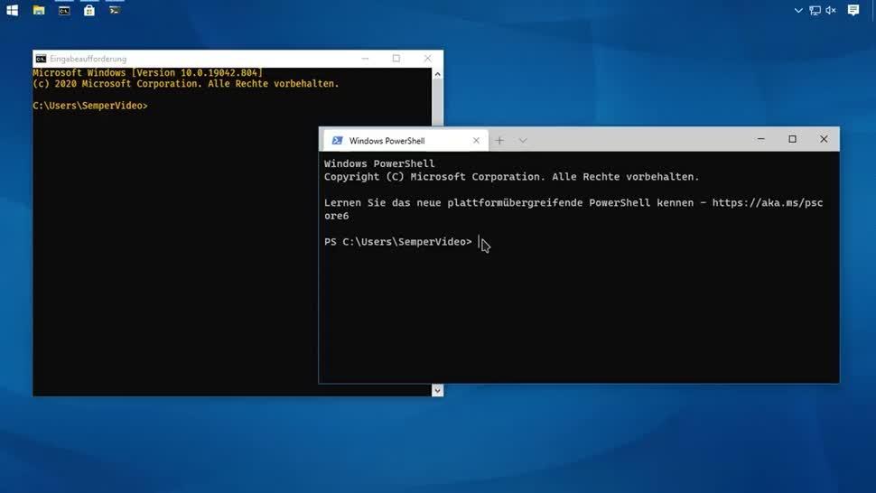 Microsoft, Betriebssystem, Windows, SemperVideo, Terminal, Kommandozeile, Eingabeaufforderung, Fluent Terminal
