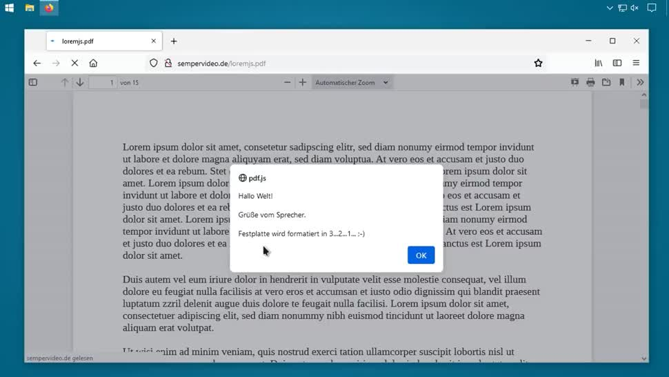 Sicherheit, Browser, Security, Firefox, Mozilla, SemperVideo, Pdf, JavaScript
