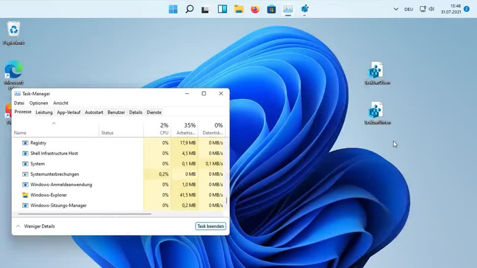 Microsoft, Betriebssystem, Windows, Windows 11, SemperVideo, Taskleiste