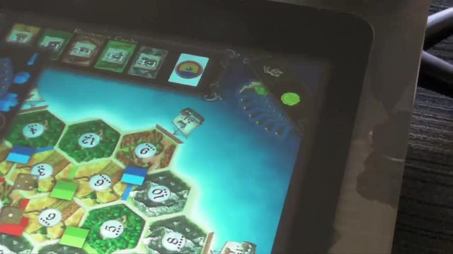 Microsoft, Spiel, Surface, Touch, Multitouch, PixelSense, Siedler, Brettspiel, Catan, Settlers