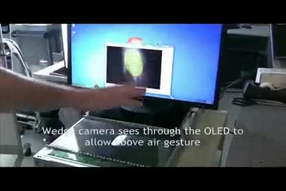 Samsung, Display, Kamera, Multitouch, Amoled, PixelSense, Bewegungserkennung, transparent, Motion Sensing