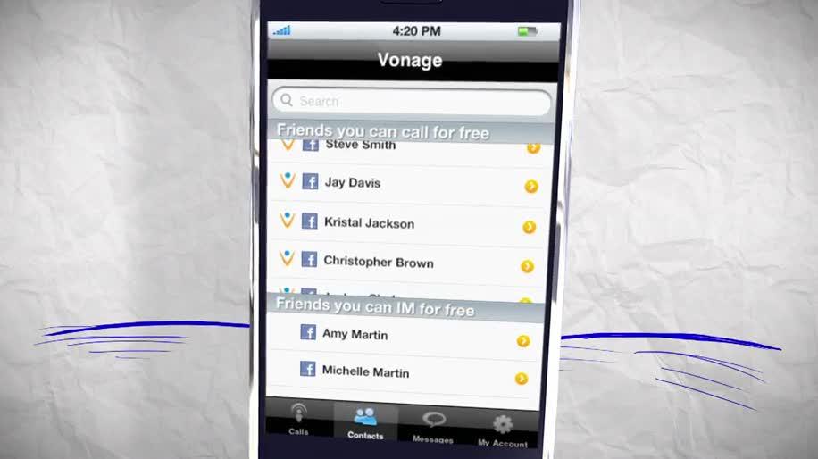 Android, Iphone, App, Facebook, iOS, Voip, Telefonie, Vonage