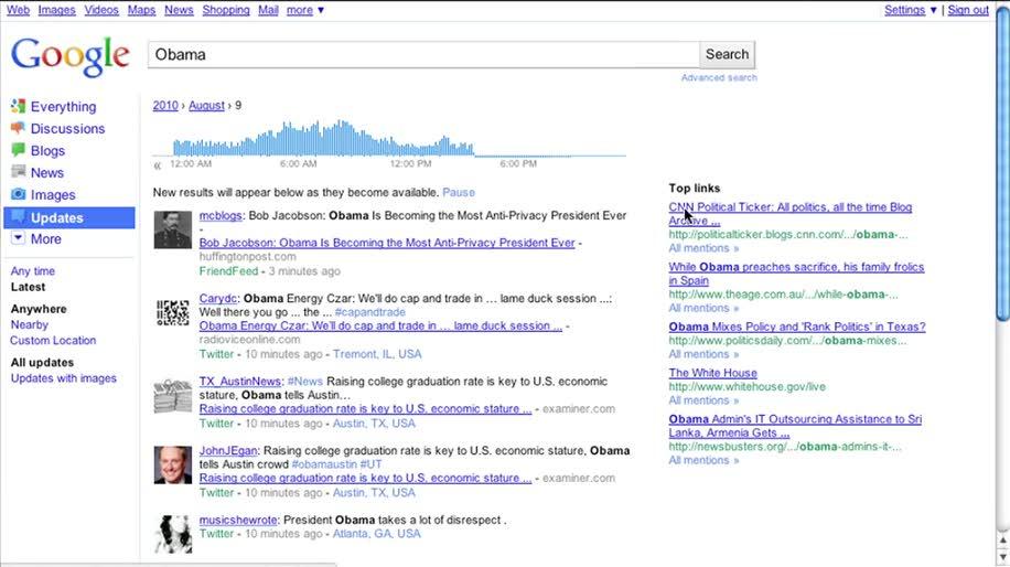 Google, Twitter, Suche, Echtzeit
