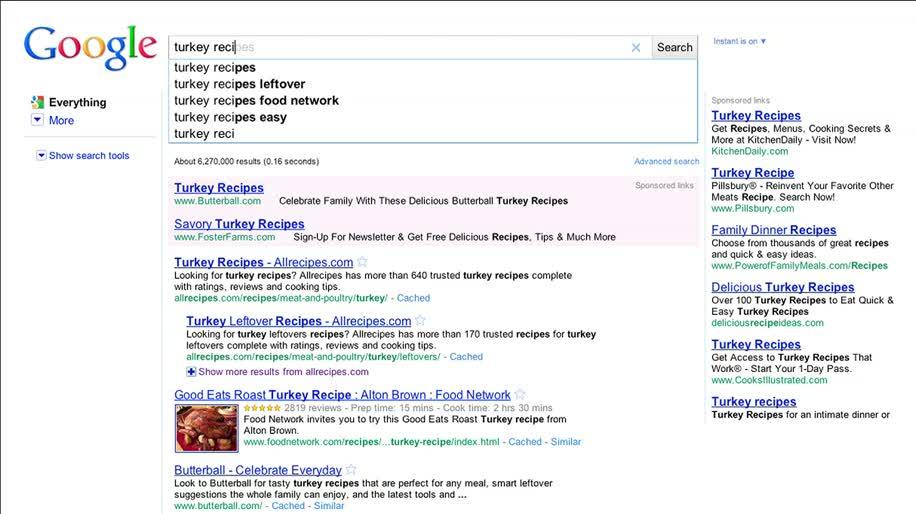 Google, Suche, Instant