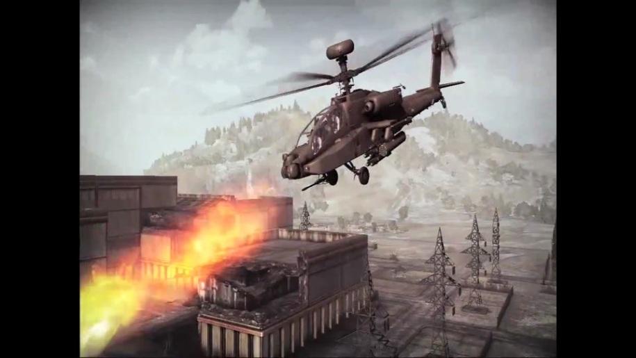 Trailer, Apache Air Assault, Hubschrauber