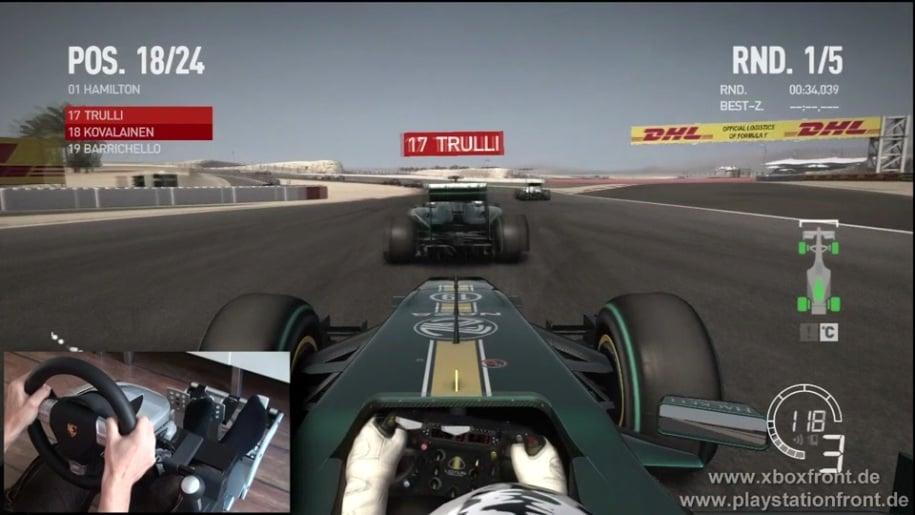 Gameplay, Codemasters, Formel 1, F1 2010, Fanatec Wheel