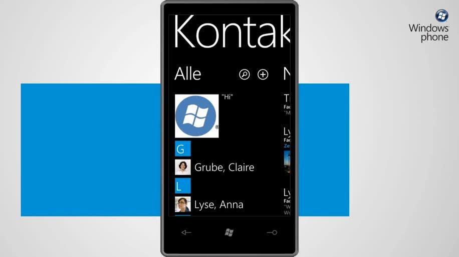 Microsoft, Smartphone, Windows Phone 7, People Hub