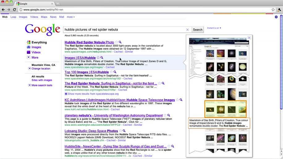 Google, Suche, Screenshot, Vorschau, Instant, Instant Previews