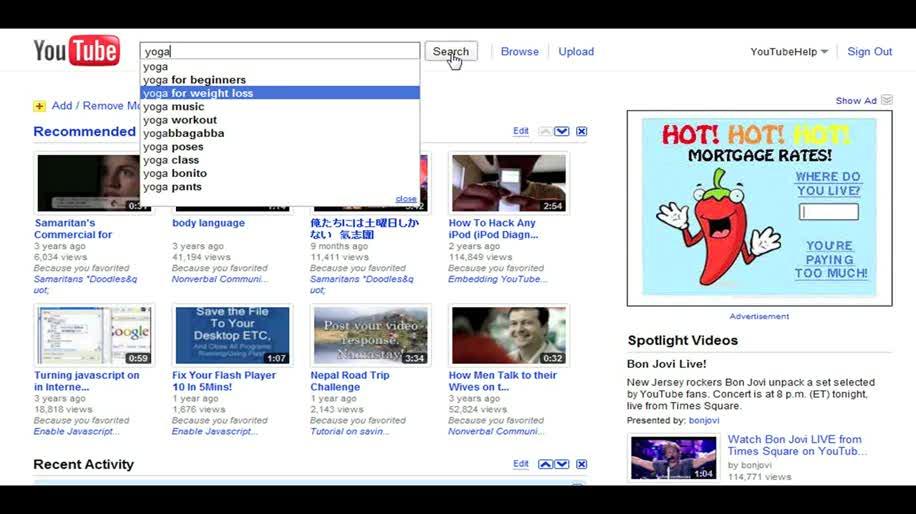 Youtube, Suche, Videos, Topics