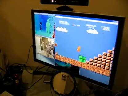 Xbox 360, Kinect, Bewegungssteuerung, Super Mario, Mario, NES, Super Mario Bros., Super Mario Bros. 2, Super Mario Bros. 3, OpenKinect, FCEUX