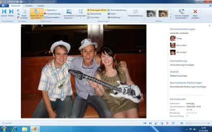 Fotos, Windows Live, Windows Live Essentials, Fotogalerie, Windows Live Fotogalerie, Rote Augen