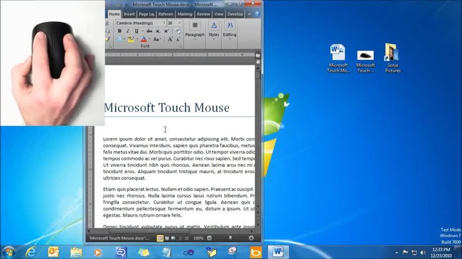 Microsoft, Windows 7, Touch, Maus, Multitouch, Eingabe, Eingabegerät, Touch Mouse
