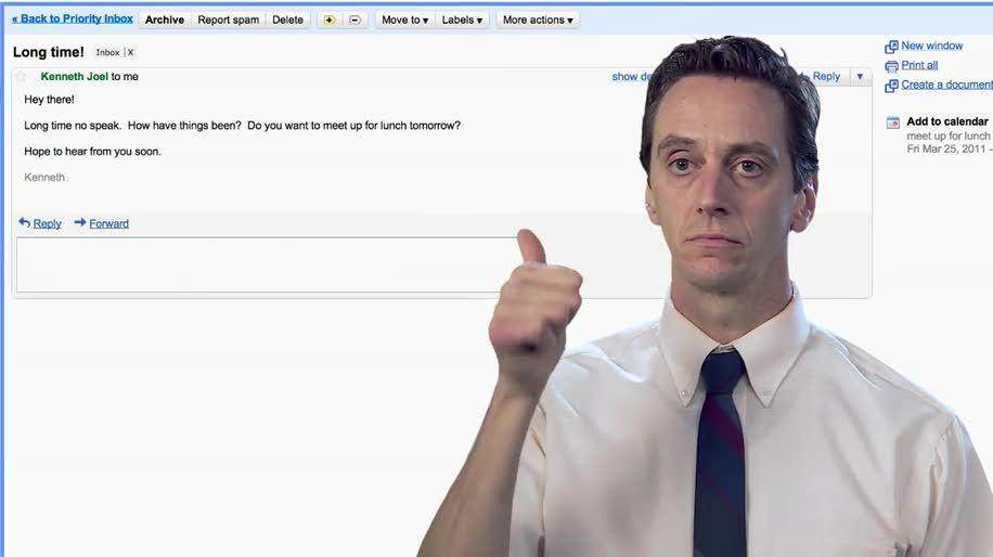 Google, Bewegungssteuerung, Google Mail