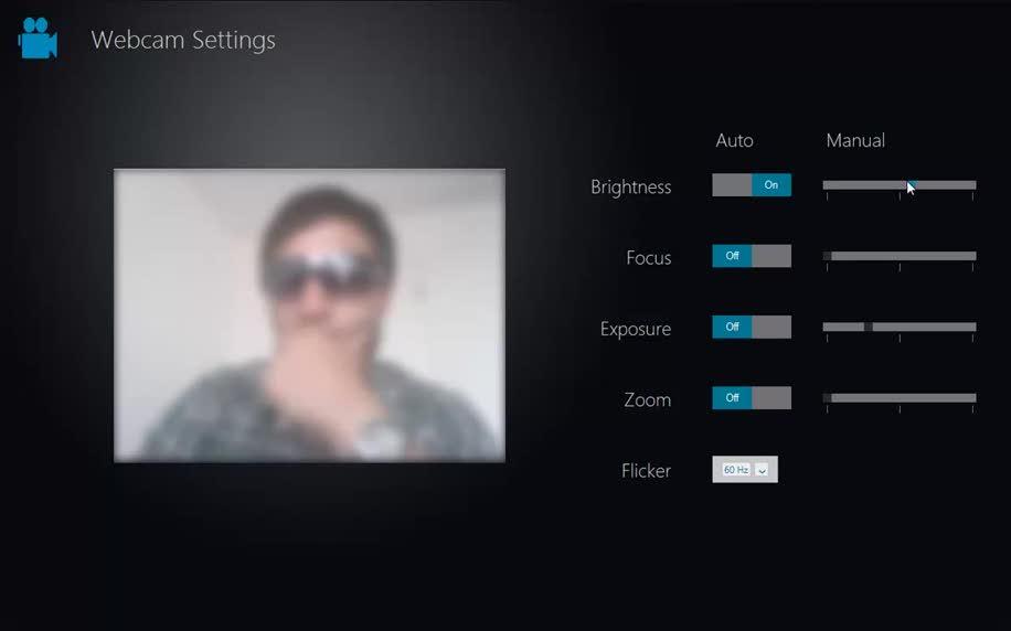 Windows 8, Webcam