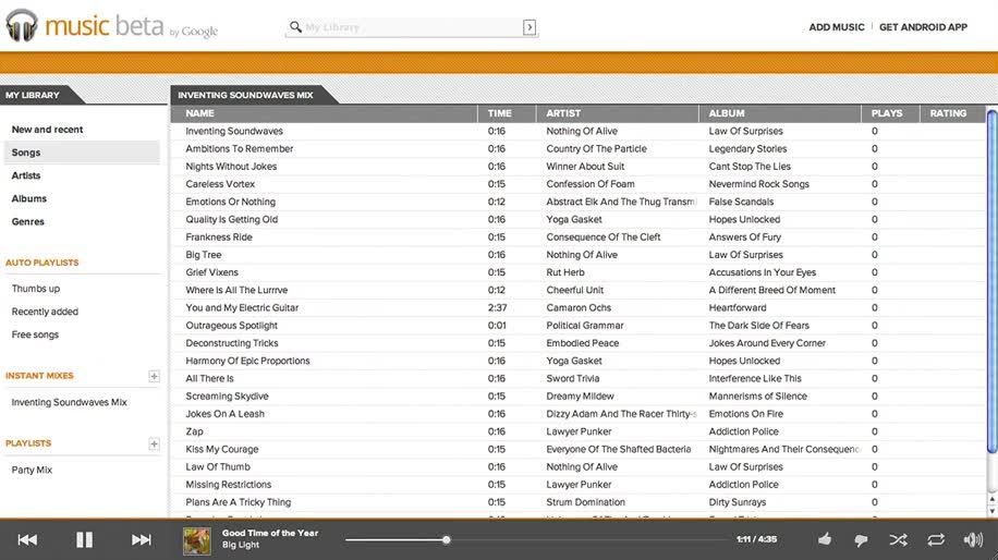 Google, Musik, Beta, Musikverwaltung, Google Music, Music Beta by Google
