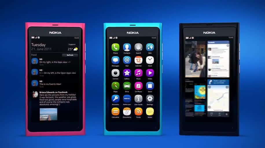Smartphone, Nokia, Handy, Linux, Interface, Ui, MeeGo, Nokia N9, N9, Produktvideo, Swipe