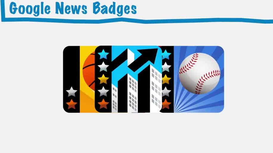Google, Google News, Badges