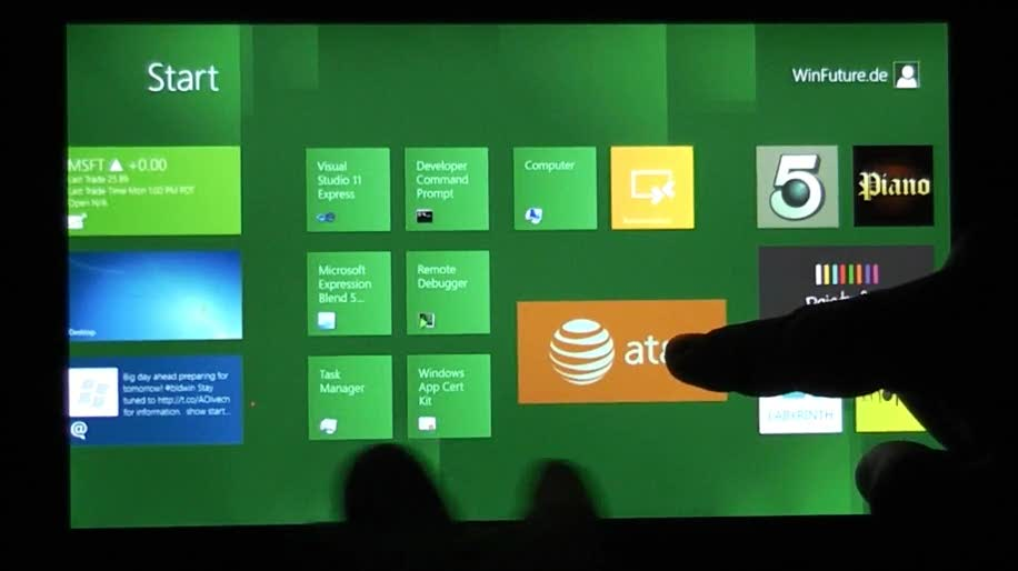Microsoft, Betriebssystem, Windows 8, Touch, Gui, BUILD 2011