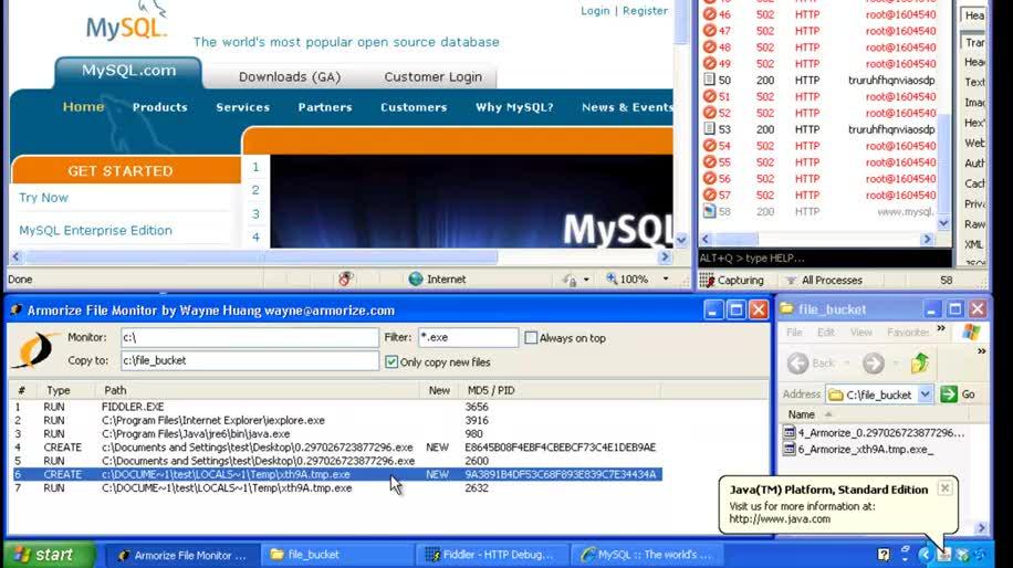 Sicherheit, Malware, Trojaner, Mysql, Infektion, Armorize