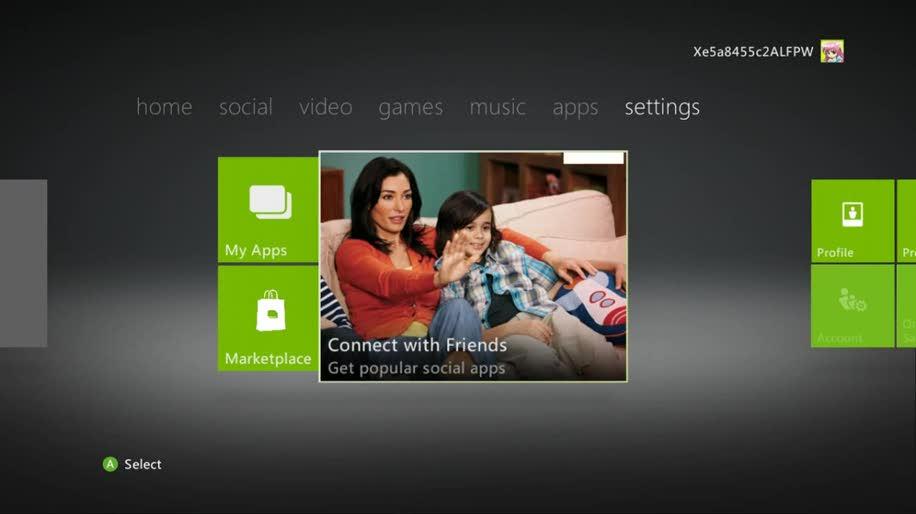 Xbox 360, Dashboard