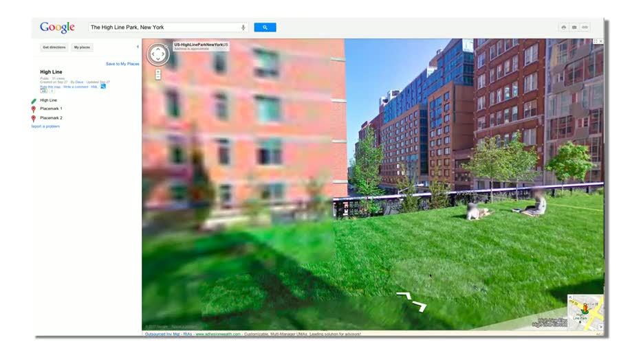Google, Street View, Parks
